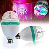 Lowprice Online ™ 360 Degree LED Crystal Rotating Bulb Magic Disco LED Light ,LED Rotating bulb Light Lamp For Party/Home/Diwali Decoration
