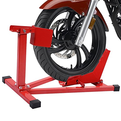 "PROSPERLY U.S.Product Motorcycle Sport Bike Front Wheel Chock Lift Stand Fits 16""-18"" Tires"