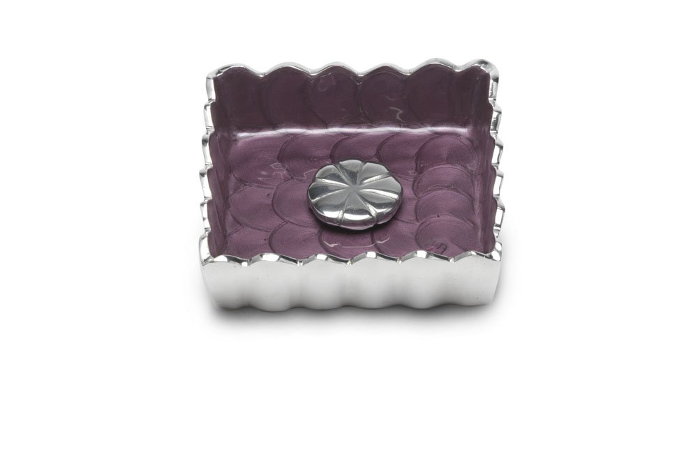 Julia Knight Peony Cocktail Napkin Holder, 5-Inch, Amethyst, Purple by Julia Knight