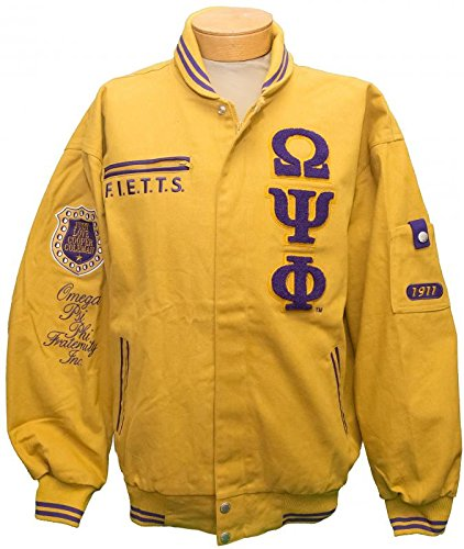 New! Mens Omega Psi Phi - Cooper Coleman Fraternity Inc. Racing Style Jacket - X-Large