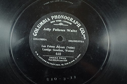 Columbia Orch. Early 1-sided Columbia Phonograph Co-78 RPM-Jolly Fellows Waltz
