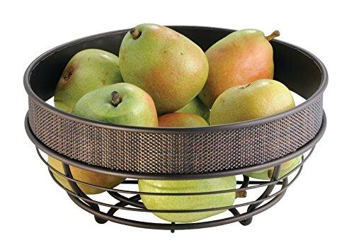 mdesign fruit bowl for kitchen countertops bronze - Kitchen Counter Decor