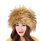 LITHER Women Ladies Girls Cossack Russian Style Faux Fur Hat Winter Warm Cap