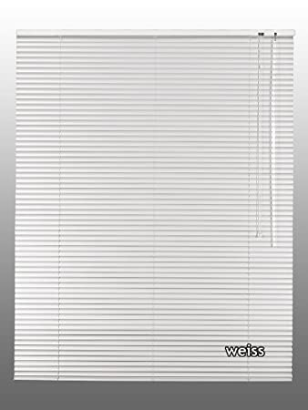 Alu Aluminium Jalousie in weiß creme silber schwarz Jalousette Rollo 50 cm Höhe
