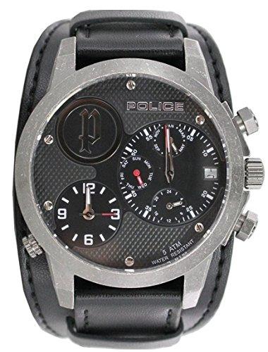 Police Reloj Cronógrafo para Hombre de Cuarzo con Correa en Cuero PL.14188JSQS_02: Amazon.es: Relojes