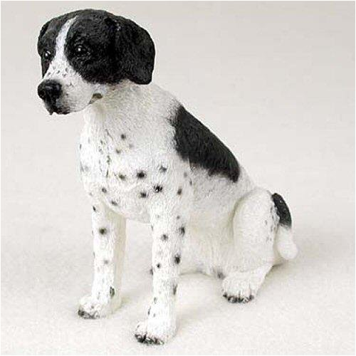 Pointer, Black/White Original Dog Figurine (4in-5in)