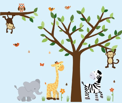 Safari Jungle Decals Stickers Leaves