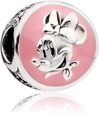 Pandora Disney Vintage Minnie Silver Charm with Pink Enamel & CZ 797170EN96