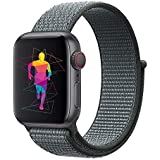 INTENY Sport Band Compatible with Apple Watch 38mm, Soft Lightweight Breathable Nylon Sport Loop, Strap Replacement for iWatch Series 3, Series 2, Series 1 (Storm Gray, 38mm)