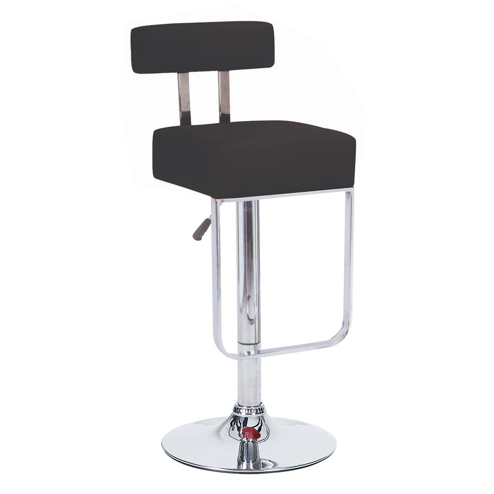 Amazon.com: Blok Contemporary Adjustable Barstool   Black: Kitchen U0026 Dining