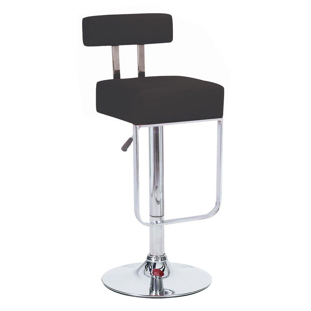 Modernhome Blok Contemporary Adjustable Barstool - Black