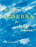 Algebra for College Students : Student Solutions Manual, Auvil, Daniel L., 0070031827