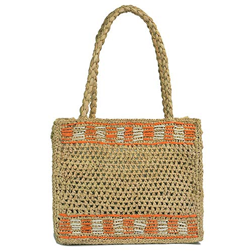 - Summer Beach Bag French Style Handbags Women Raffia Straw Jeanne Damas Elegant Tote Travel Shopper Clutch