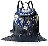 Rebecca Minkoff Mumbai Fringe Back pack, Navy Blue/White/Multi, One Size