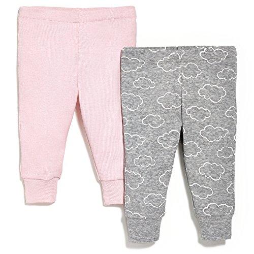 SkipHop Baby Girls' Starry Chevron Pants Set, Pink, Newborn