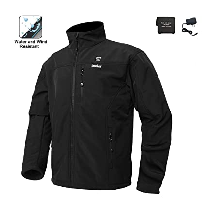 e42a67808 Smarkey Cordless Heated Jacket Carbon Fiber Electric Heating Clothing Male  Jacket Thermal Clothing with 1PCS 5200mah Battery