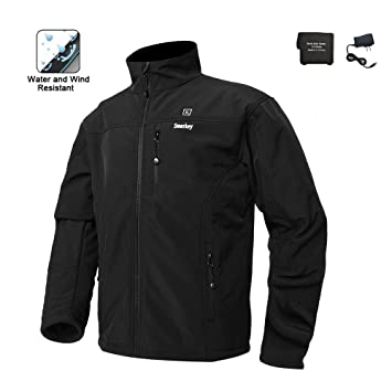 Battery Heated Clothing >> Smarkey Cordless Heated Jacket Carbon Fiber Electric Heating Clothing Male Jacket Thermal Clothing With 1pcs 5200mah Battery