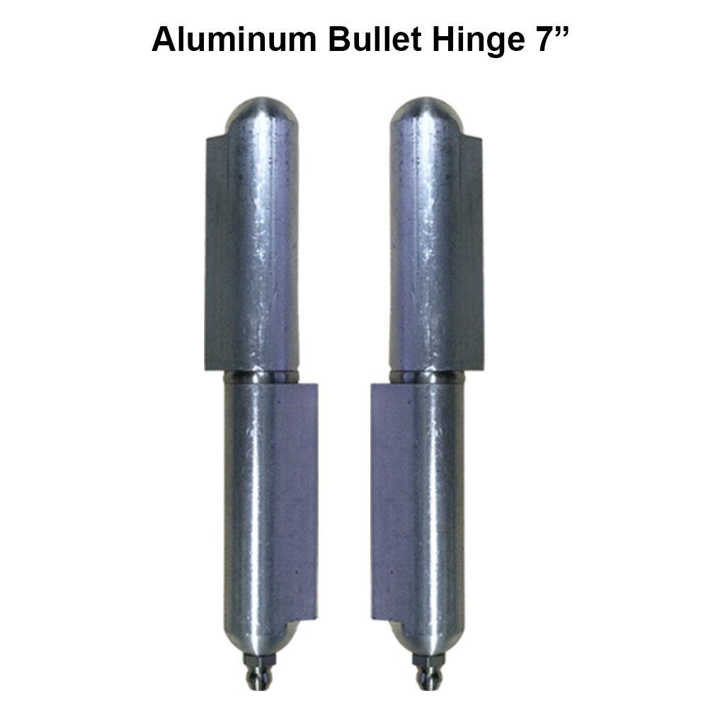 Pair 7'' Heavy duty aluminum Weld On hinge Body Bullet Stainless Steel Bushing