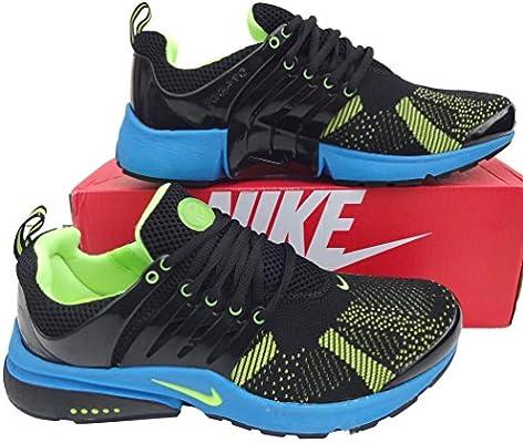 Nike Air Presto Negro y Azul Zapatillas para Hombre tamaño 9 Zapatillas Shox Zapatos * * Nuevo: Amazon.es: Deportes y aire libre