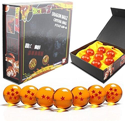 Makion Dragonball Z -Juguete Dragonball z Set de 7 Bolas de Cristal de Dragon Ball Z en Estuche de Regalo: Amazon.es: Hogar