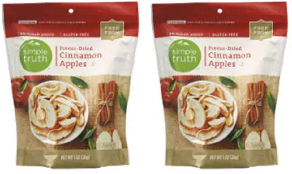 Simple Truth Freeze-Dried Cinnamon Apples 1 oz (Pack of 2) by