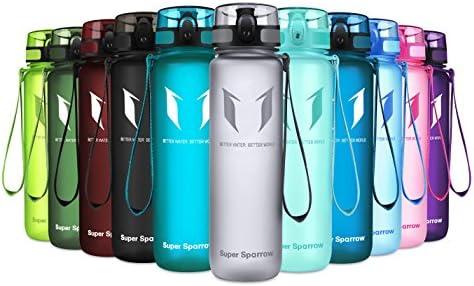 Super Sparrow Botella de agua deportiva -1000ml - Sin BPA - Flujo de agua rápida