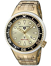 Swiss Legend Men's 21819D-YG-10-WHT Neptune Force Analog Display Swiss Quartz Gold Watch