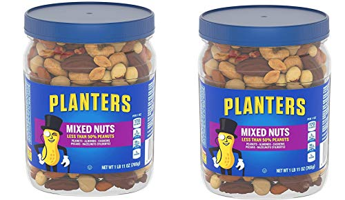 (Planters Mixed Nuts, Regular Mixed Nuts, 2 Tubs)