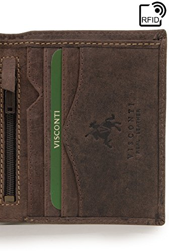 Arrow Leather Brown Arrow Visconti 705 Oil Wallet Leather Hunter Visconti Wallet 705 Hunter rfid 7FvTt