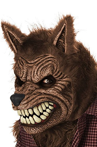[Mememall Fashion Big Bad Werewolf Ani-Motion Mask (Brown)] (Snl Bad Halloween Costumes)