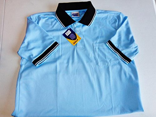 CHAMPRO Umpire Polo Shirt; Adult Light Blue, Medium ()