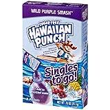 Hawaiian Punch Singles To Go Powder Sticks, Water Drink Mix, Wild Purple Smash, 96 Single Servings (Pack of 12)
