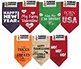 FunDog 722301736739 Bandana Superpack for Dogs, Holiday - Regular Size for Medium to Large Dogs