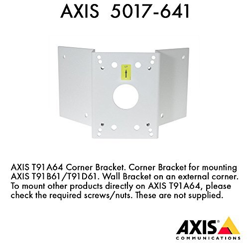 Axis Communications 5017-641 T91A64 Corner Bracket - Camera corner mounting kit - for AXIS 216, M3203, P3301, P3304, P5512, P5522, P5532, P5534, Q6032, Q6034, Q6035, T91A61 by Axis