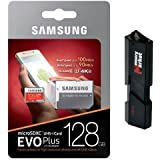 Samsung 128GB MicroSD XC Class 10 Grade 3 UHS-3 Mobile Memory Card for Samsung Galaxy S7 & S7 Edge S8 & S8 Plus & SD Memory Card Reader