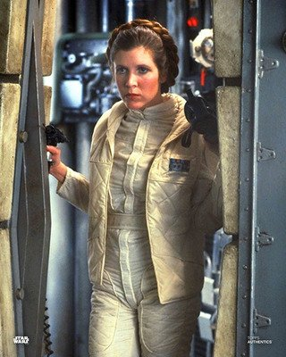 Star Wars Authentics Carrie Fisher as Princess Leia Organa in 'Star Wars: The Empire Strikes Back' 8x10 Official Photo