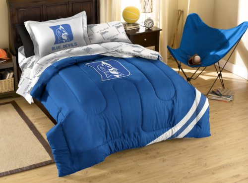 NCAA Duke Blue Devils Twin Bed in a Bag with Applique Comforter