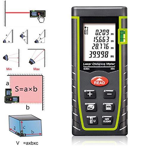 Decoration Measures - SnoopDog 7Keys 40M/131Ft Pro Handheld Digital Multifunctional Laser Distance Measure Range Finder Meter Home Improvement Decoration Building Site Area Measurer Volume Calculater Device