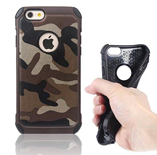 Deet® Coque rigide pour iPhone 6/6S Motif camouflage militaire. Coque de protection résistante