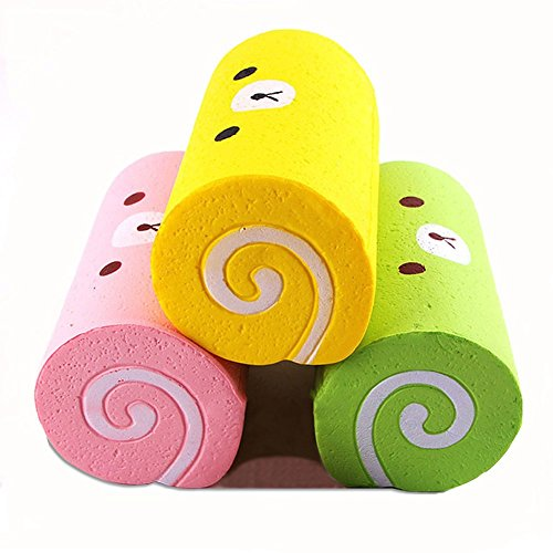 Slow Rising Squishy Swiss Roll Scented Slow Rising Hand Wrist Toy By Jewelvwatchro [Random color]