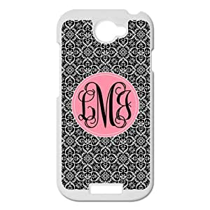European style Palace Black and White Retro Pattern with Light Pink Handwriting Monogram Design Custom Luxury Cover Case For HTC One S( White ) ALL MY DREAMS!!