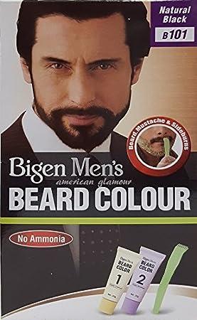 Bigen Mens Beard Colour - Tinte para barba (101), color negro natural