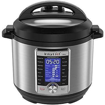 Instant Pot Ultra 6qt 10-in-1 Programmable Pressure Cooker, Slow Cooker, Rice Cooker, Yogurt Maker, Cake Maker, Egg Cooker, Saute, Steamer, Warmer, and Sterilizer