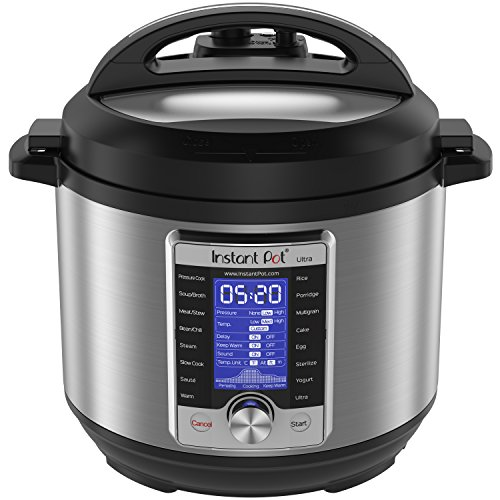 Instant Pot Ultra Multi- Use Programmable Pressure Cooker, Slow Cooker, Rice Cooker, Yogurt Maker, Cake Maker, Egg Cooker, Sauté, Steamer,