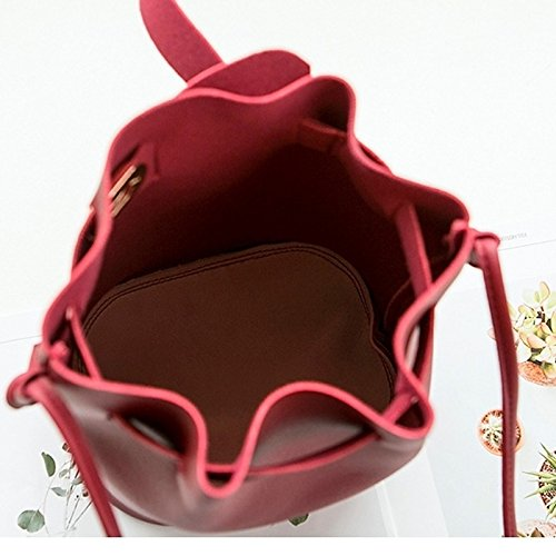 Blushing Botones Bolsos Gris Pink Bandolera PU Blushing para Rojo Rosado Mujer de GMYAN Rojo d7wIqUU