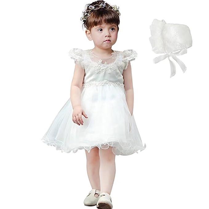 7f671363117f Amazon.com  ZAH Newborn Toddler Infant Baby Girl Christening Gowns ...