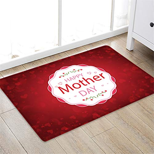 OrchidAmor Happy Mother's Day Pattern Square Area Rug Fleece Kitchen Bathroom 50X80CM 2019 New Fashion (Difference Between Coral Snake And Milk Snake)