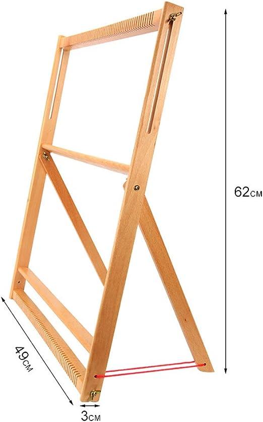 Develops Creativity Wooden Multi-Craft Weaving Loom with Stand Wooden Multi-Craft Weaving Loom,Extra-Large Frame 24.4H x 19.3W