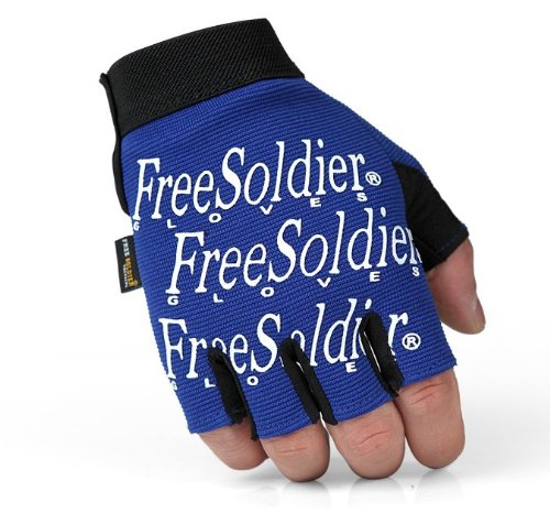 Free Soldier Seals Series Tactical Half Finger Gloves Cycling Gloves (blue, S)