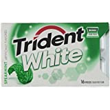 Trident White Spearmint Sugar Free Gum (9 Packs of 16 Pieces)